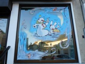 decoration vitrine de noël loic tellier