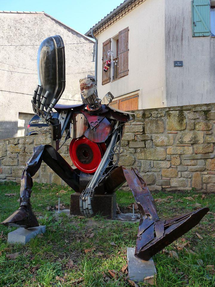 le chevalier - Fanjeaux - Loic Tellier - sulpture