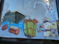 illustration vitrine de noël - loic tellier