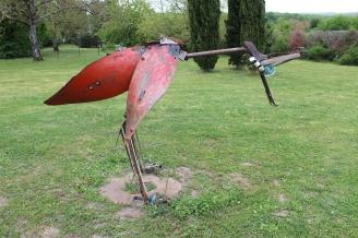 oiseau loic tellier sculpture acier