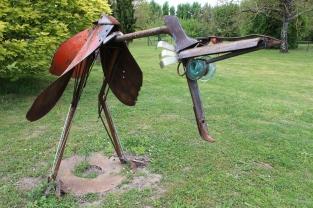 sculpture acier Loic Tellier oiseau